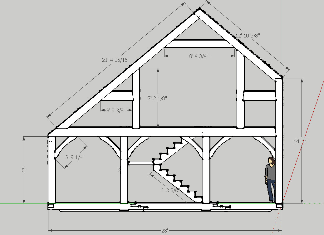 Best of 19 images saltbox roof framing architecture Saltbox garage plans
